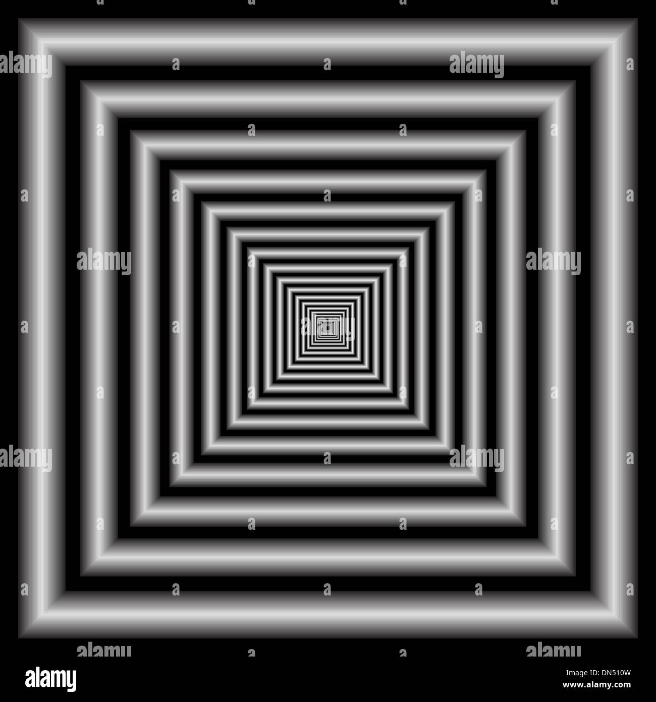 Tunnel. Optical Illusion - Stock Image
