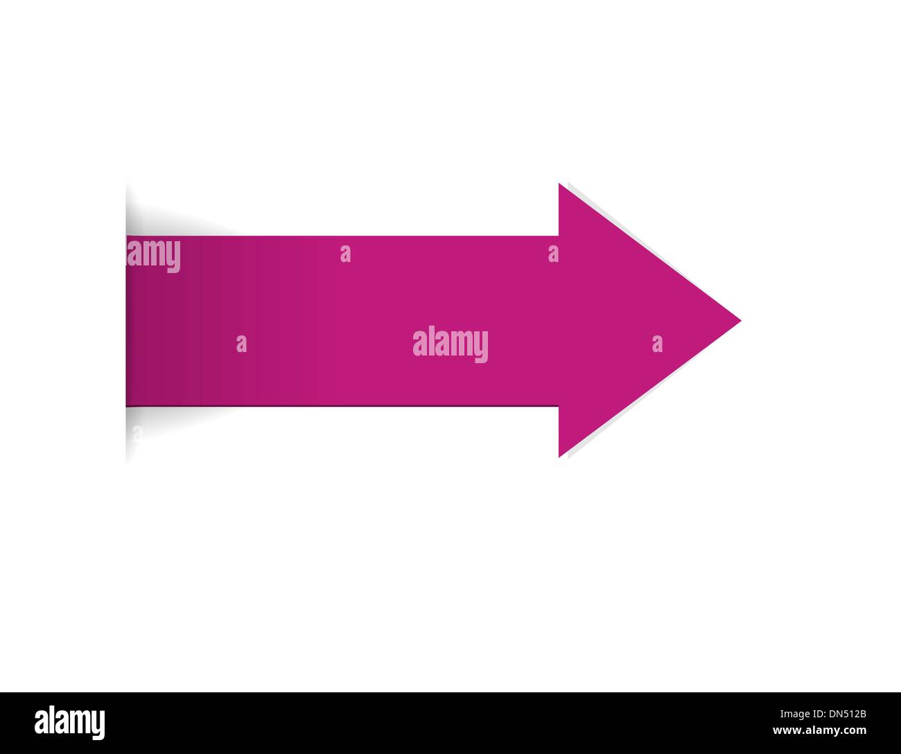 The magenta arrow - Stock Image