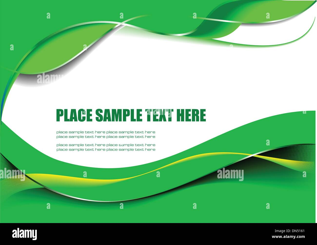 Abstract Green Wave Background Vector Illustration Stock