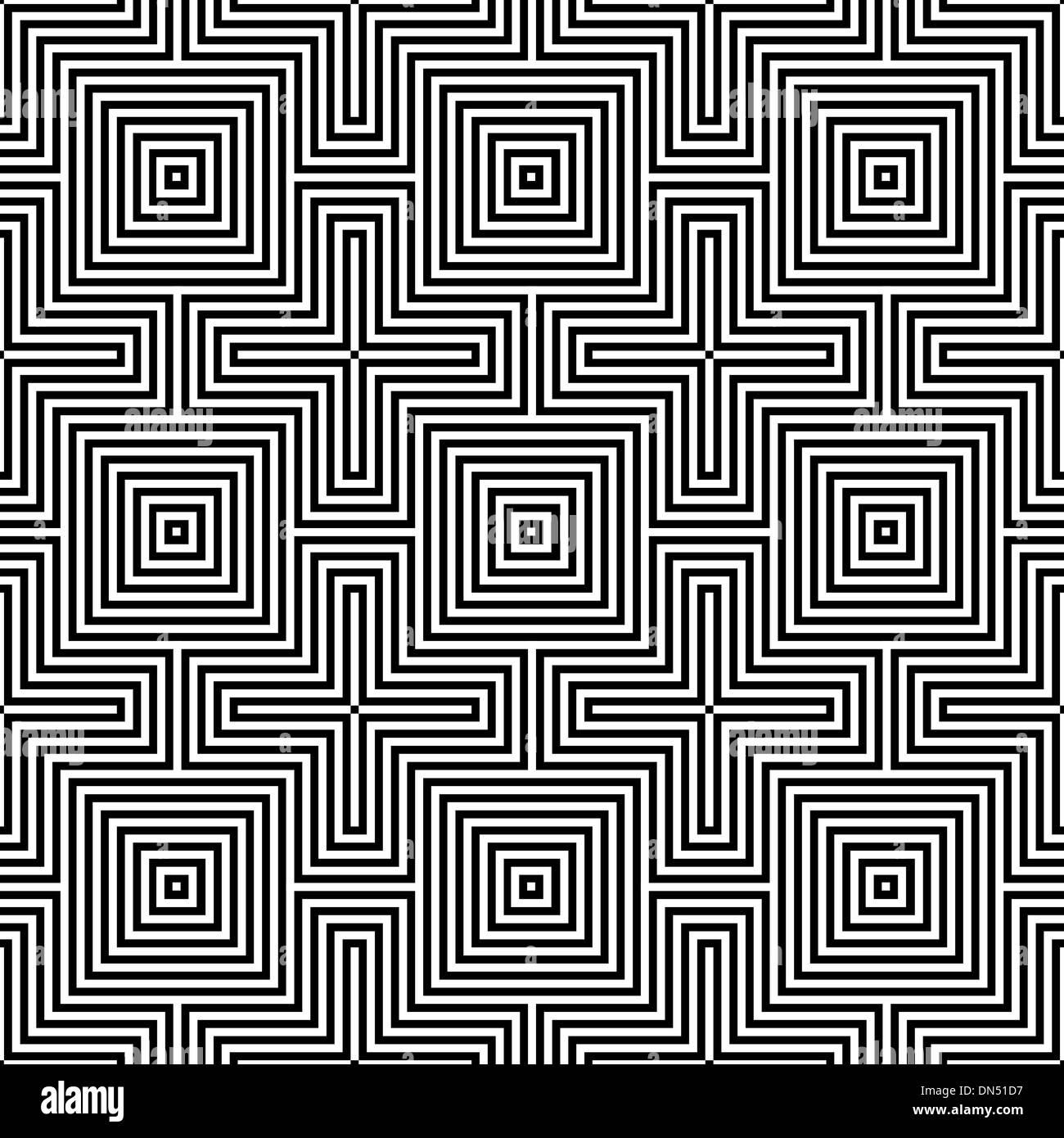 Geometric Ornament. Seamless Pattern - Stock Image
