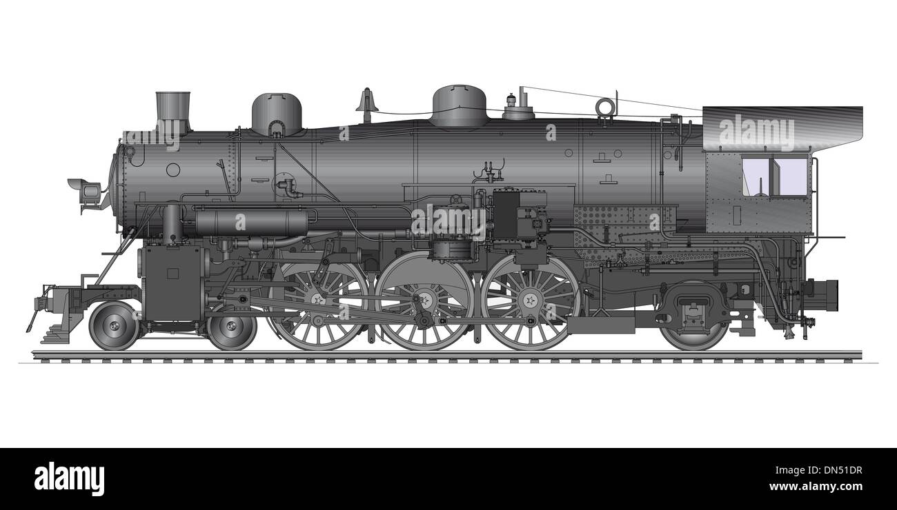Old Locomotive - Stock Image