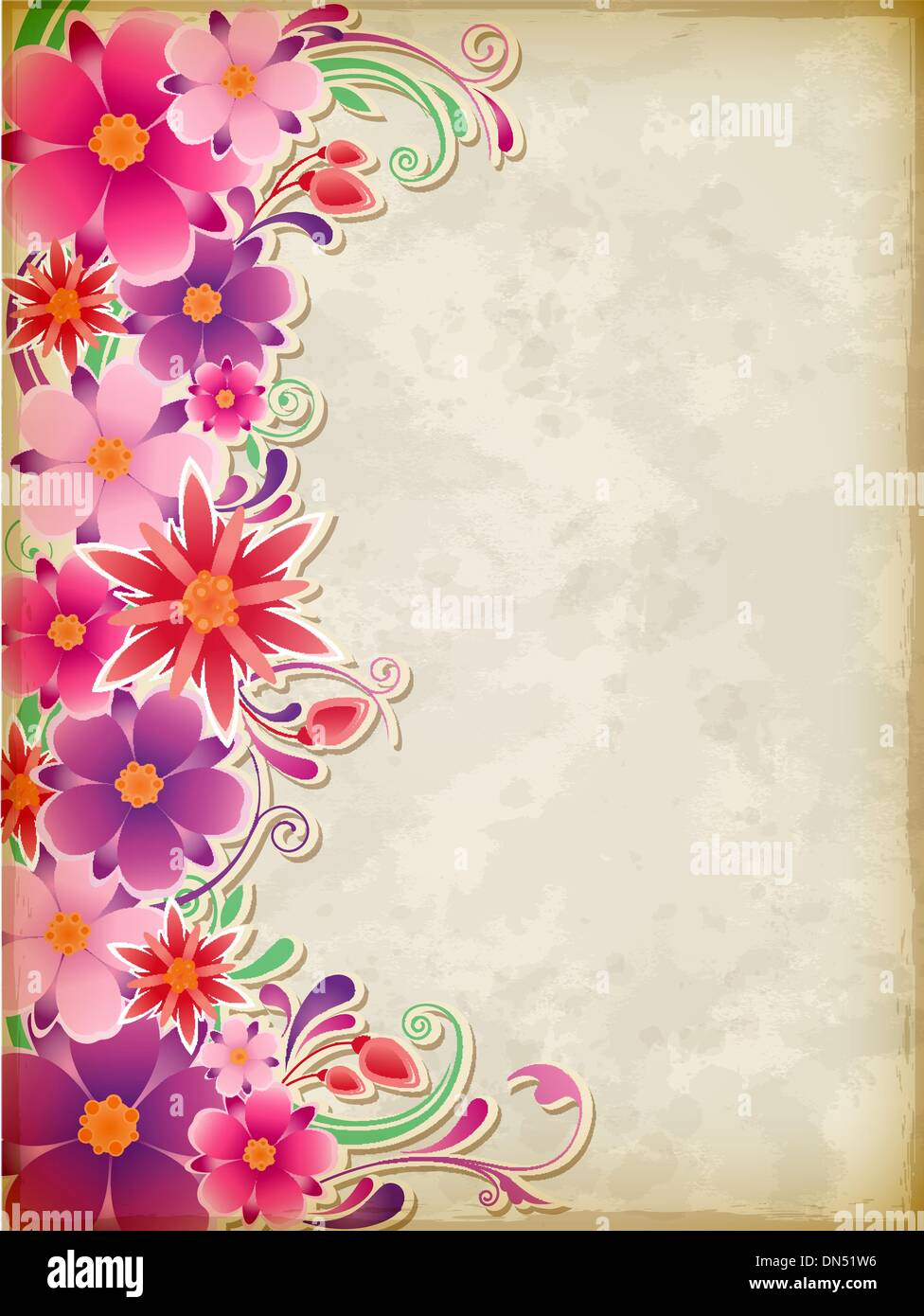 Pink Flower Textured Background Stock Vector Images Alamy