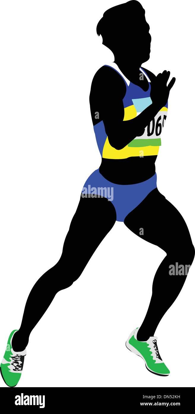 The running people. Sport. Running. Vector illustration - Stock Vector