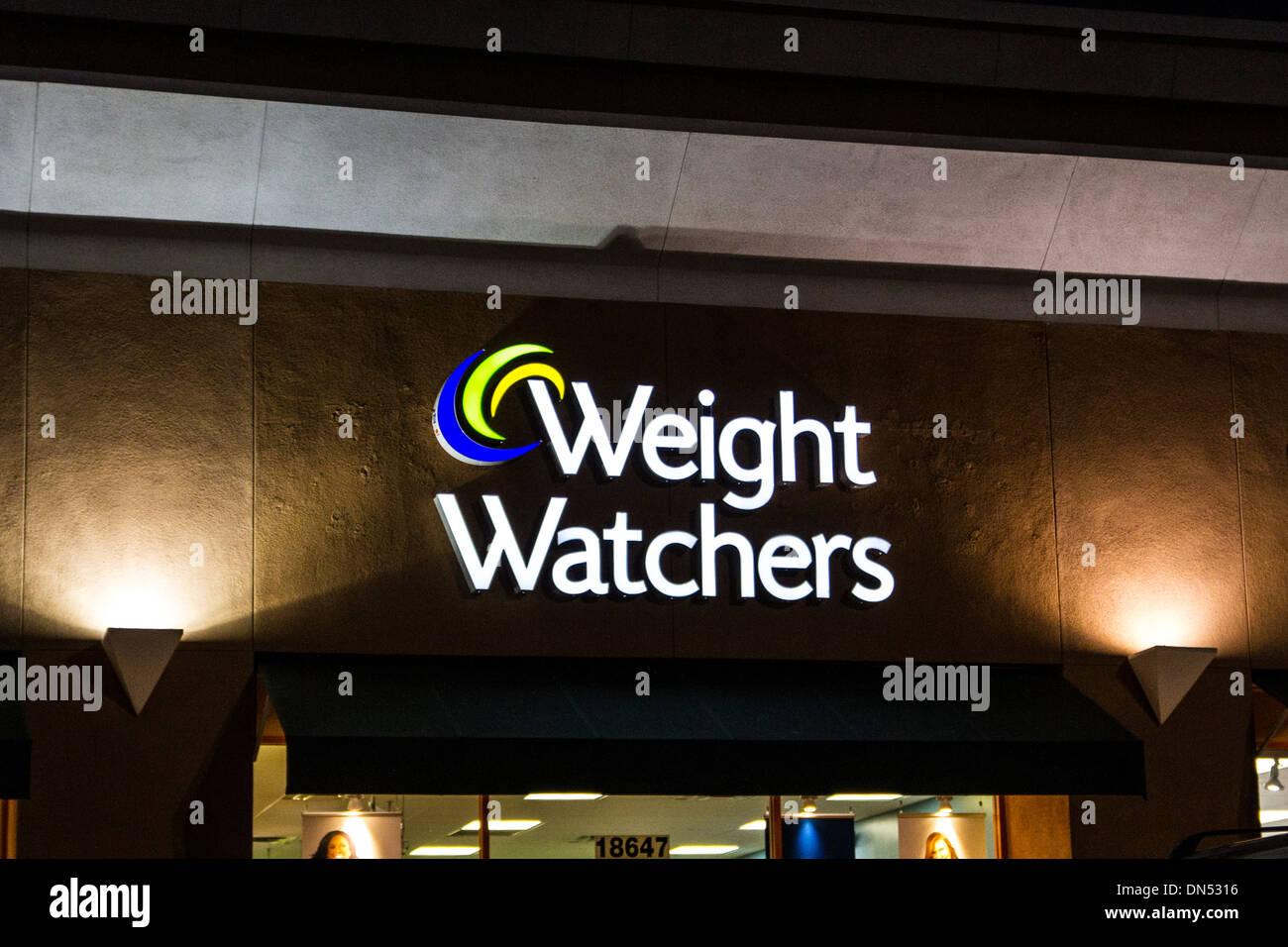 A Weight Watchers store in Northridge California - Stock Image