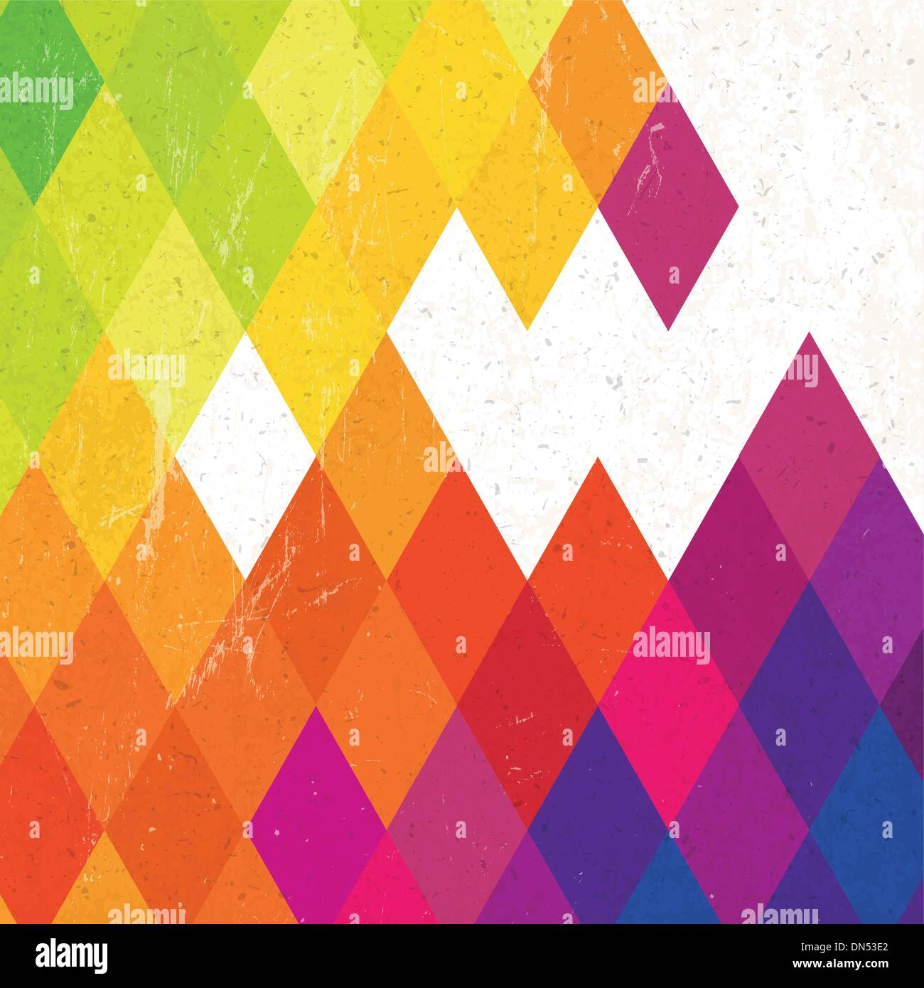 Retro colorful rhombus background, vector - Stock Image