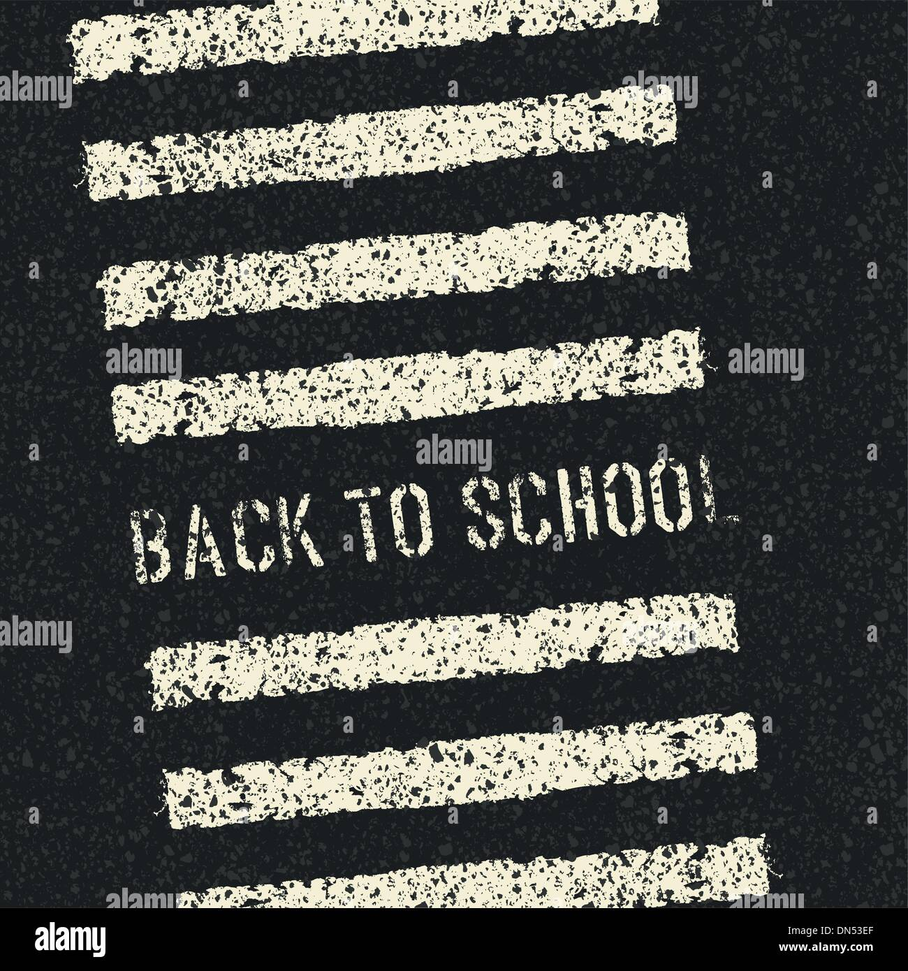 Back to school. Road safety concept. Vector. - Stock Image