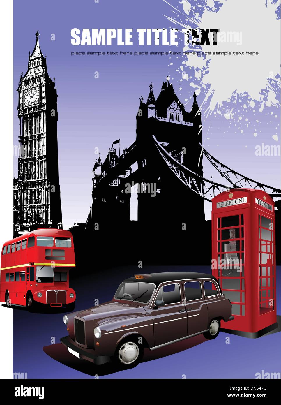London images background. Vector illustration Stock Vector