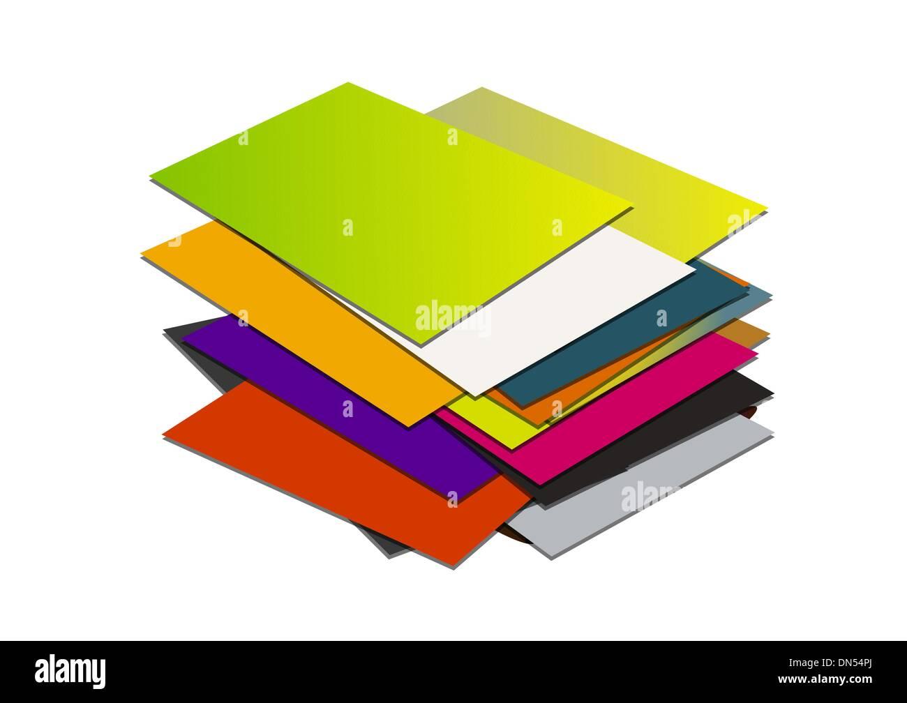 Business card pile Stock Vector Art & Illustration, Vector Image ...