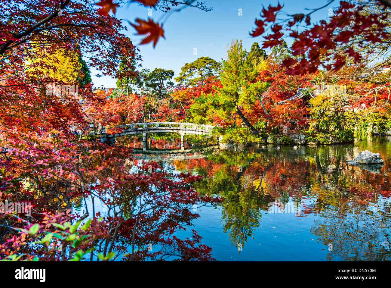 Eikando Gardens in Kyoto, Japan - Stock Image