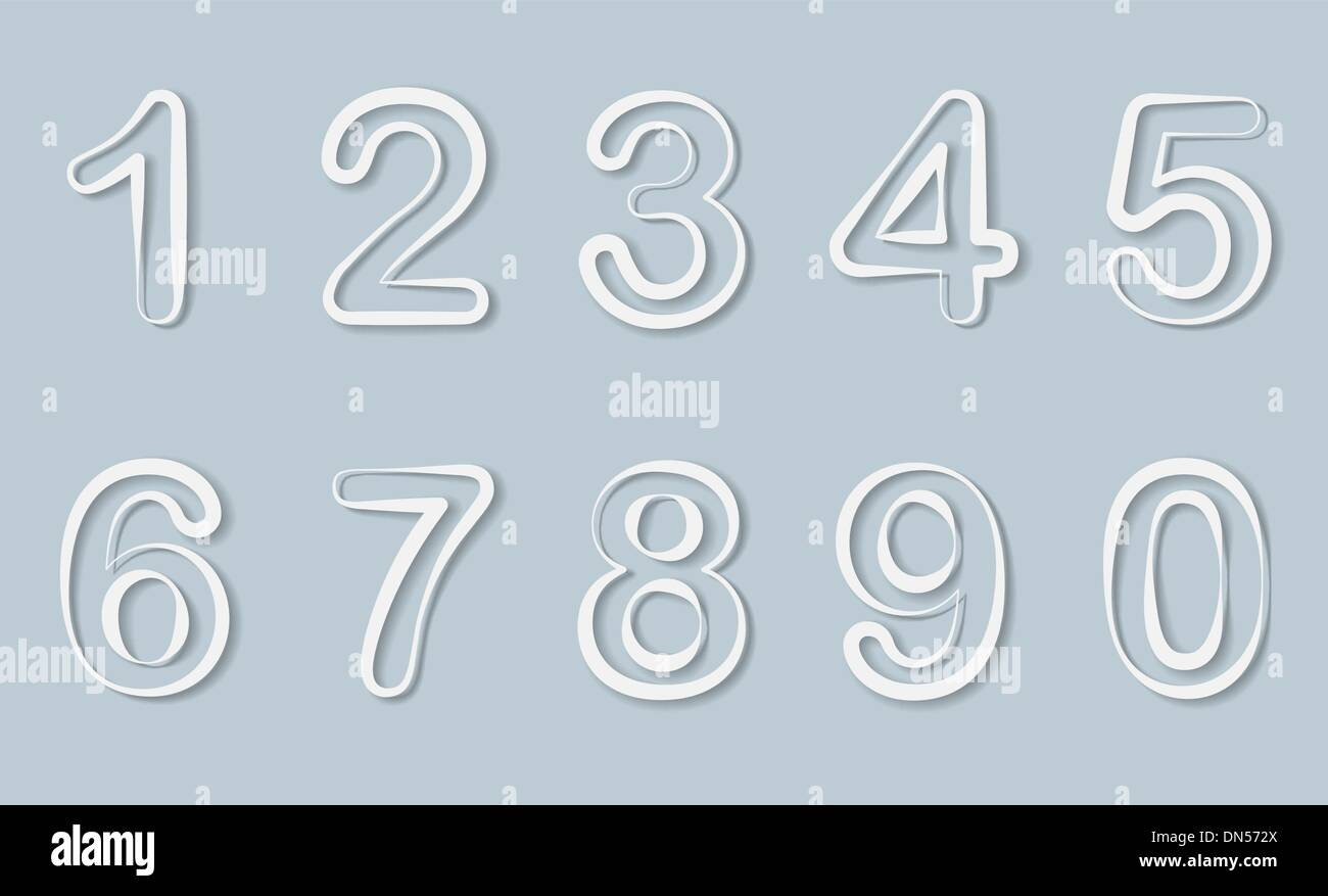 numbers set. Vector. - Stock Image