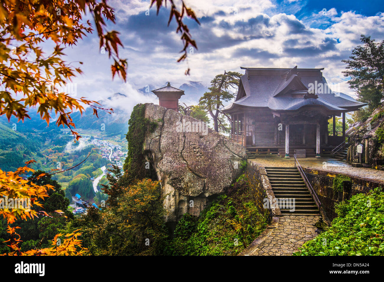 Yamadera Mountain Temple in Yamagata, Japan. - Stock Image