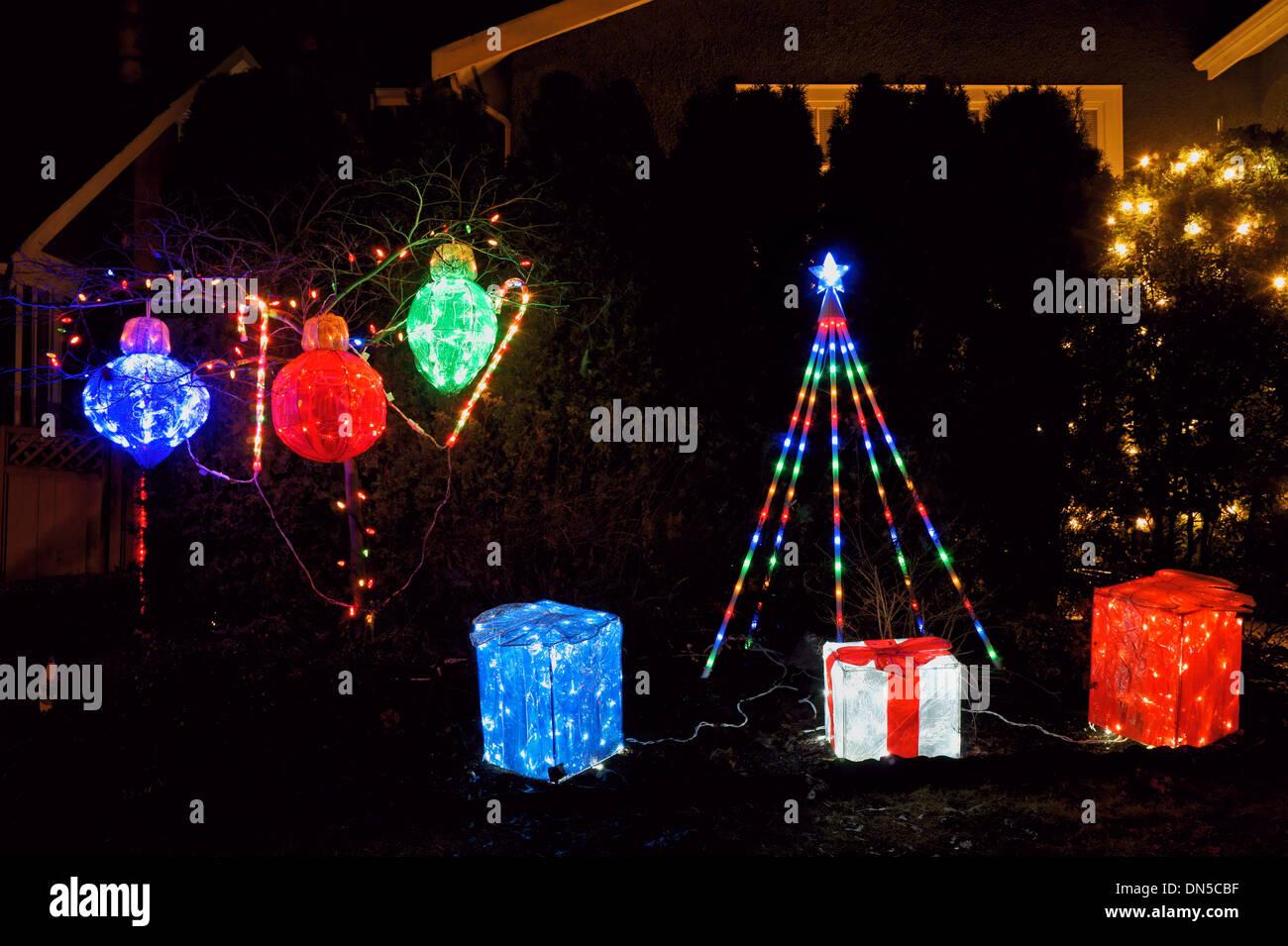 Christmas Lighting Display Stock Photos & Christmas Lighting Display ...