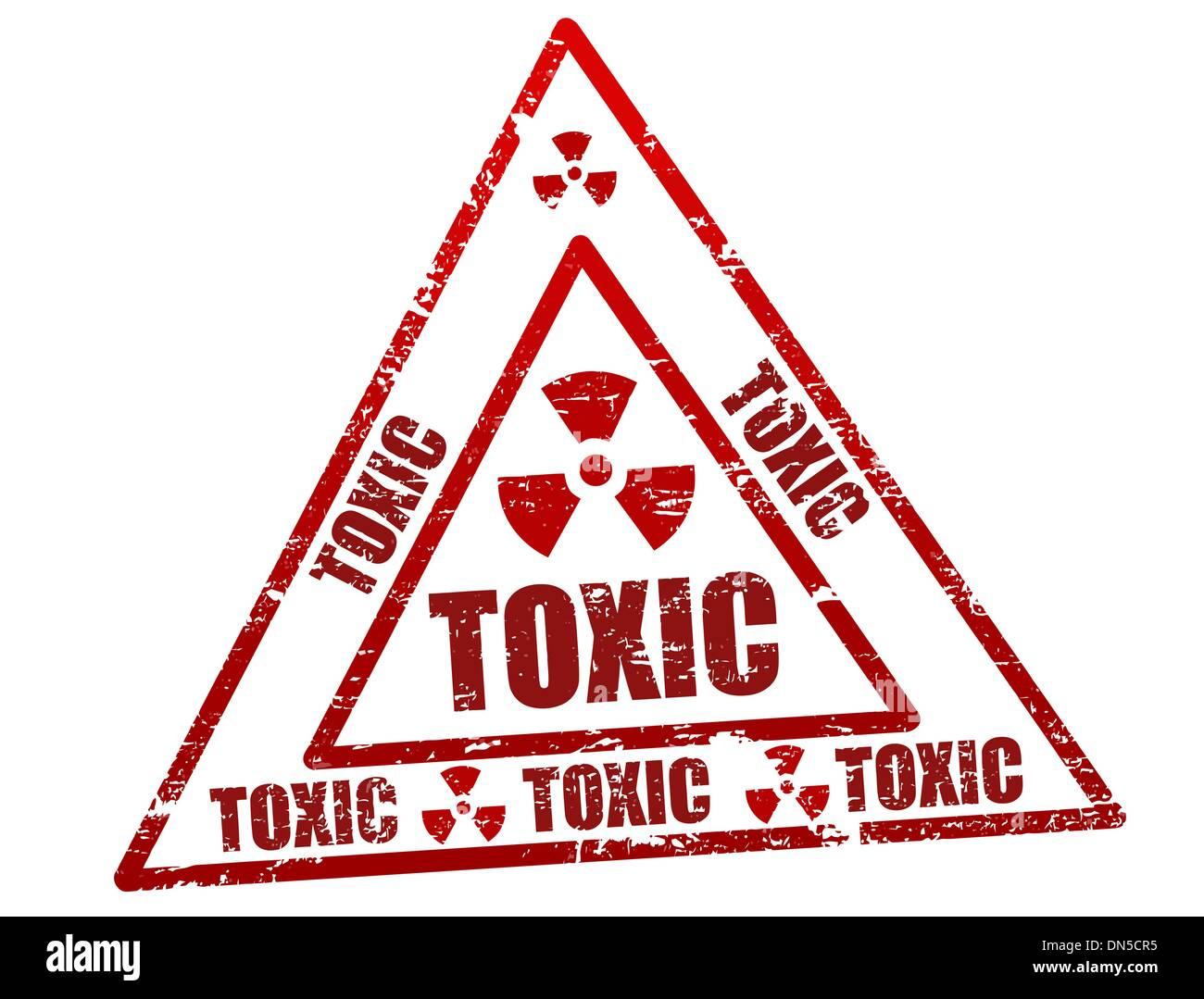 Toxic stamp - Stock Image