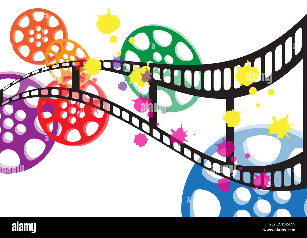 Background Film Vector Stock Vector Art Illustration Vector Image
