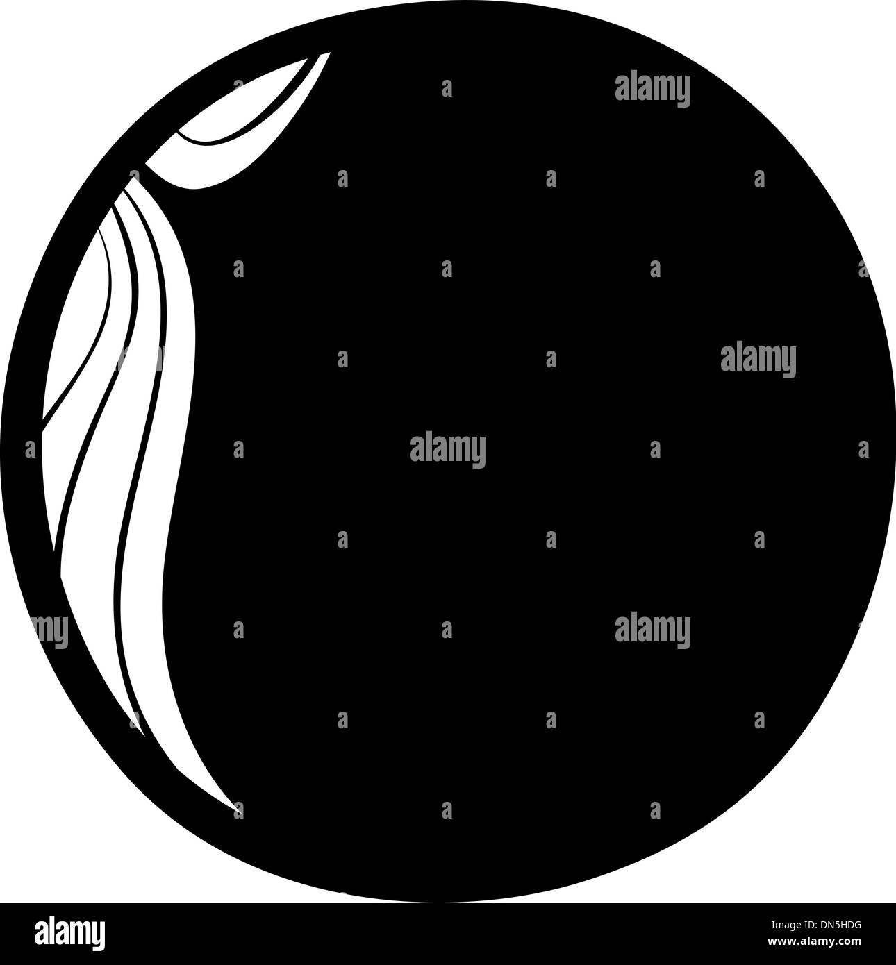 venus planet cartoon coloring page - Stock Image