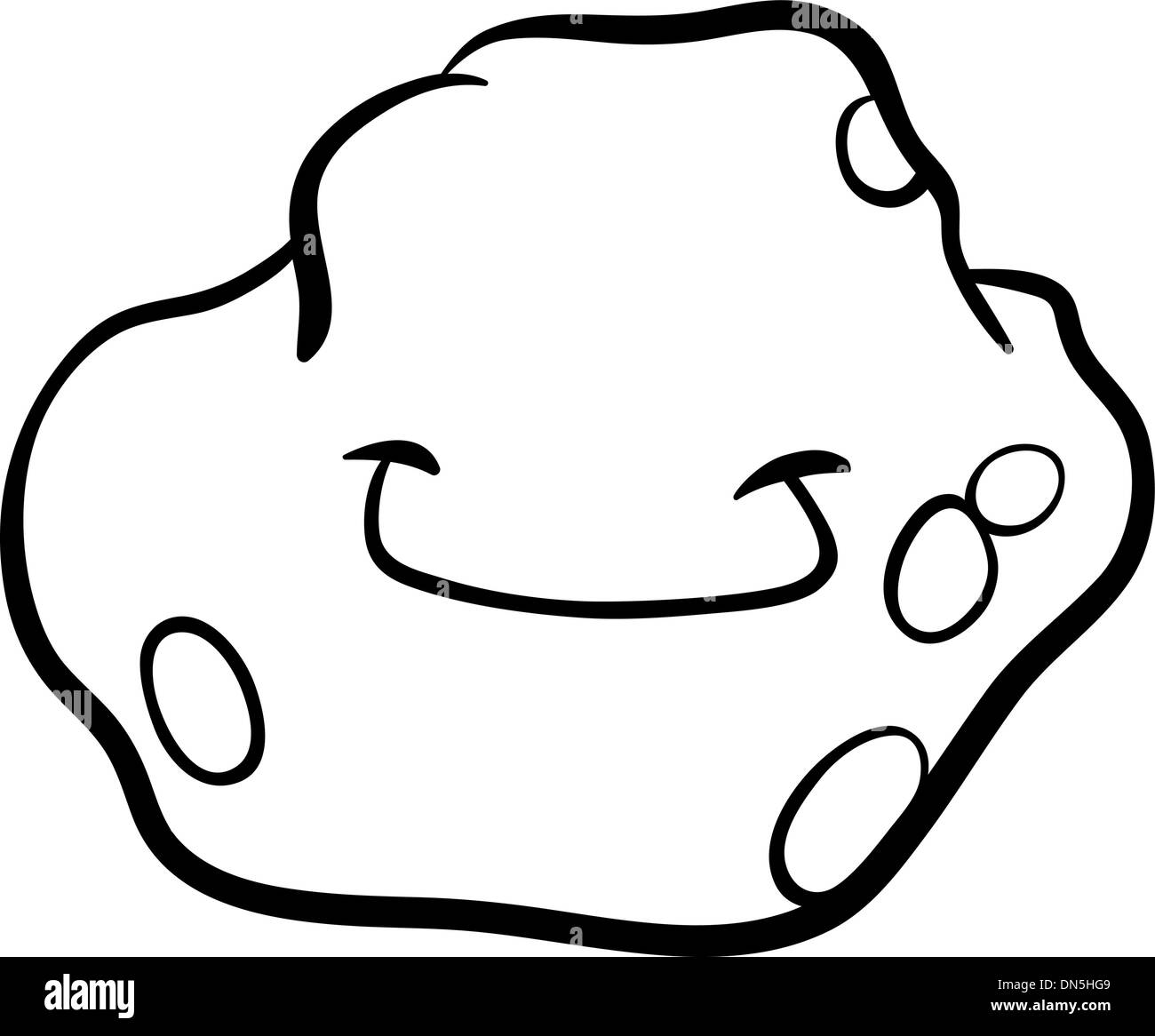 Cartoon Asteroid Coloring Page