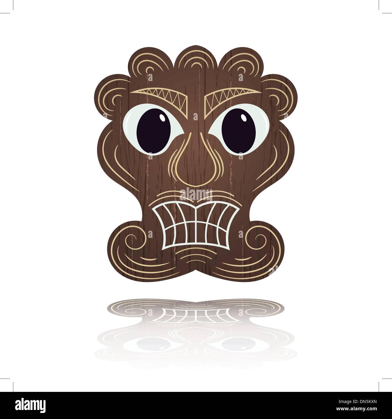 Traditional Hawaiian mask - Stock Vector