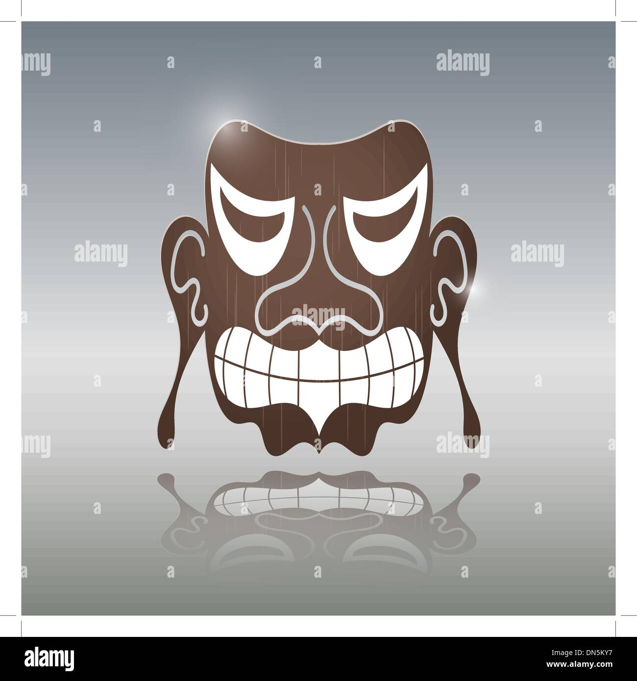 African Mask - Stock Image