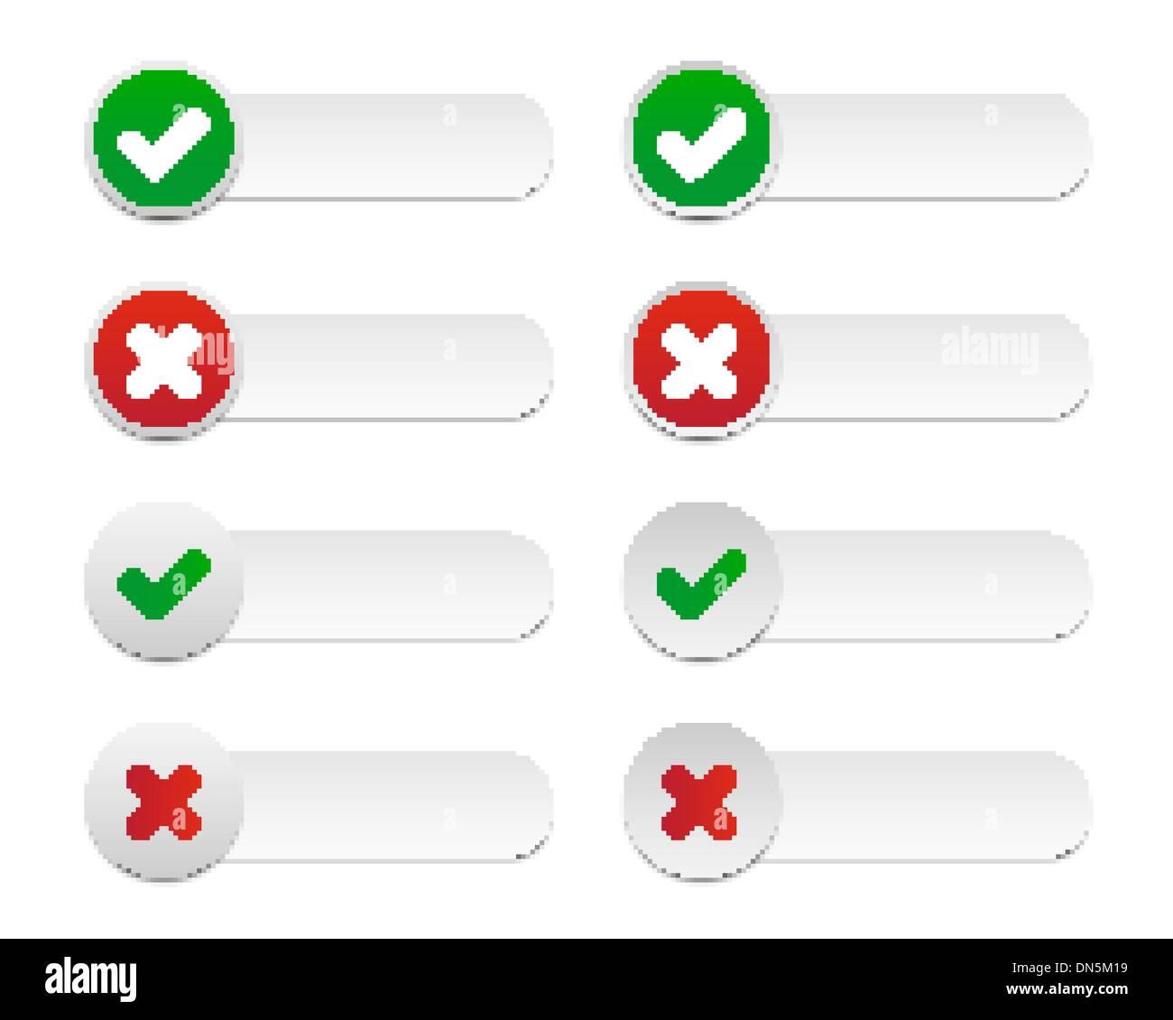Validation labels - Stock Image