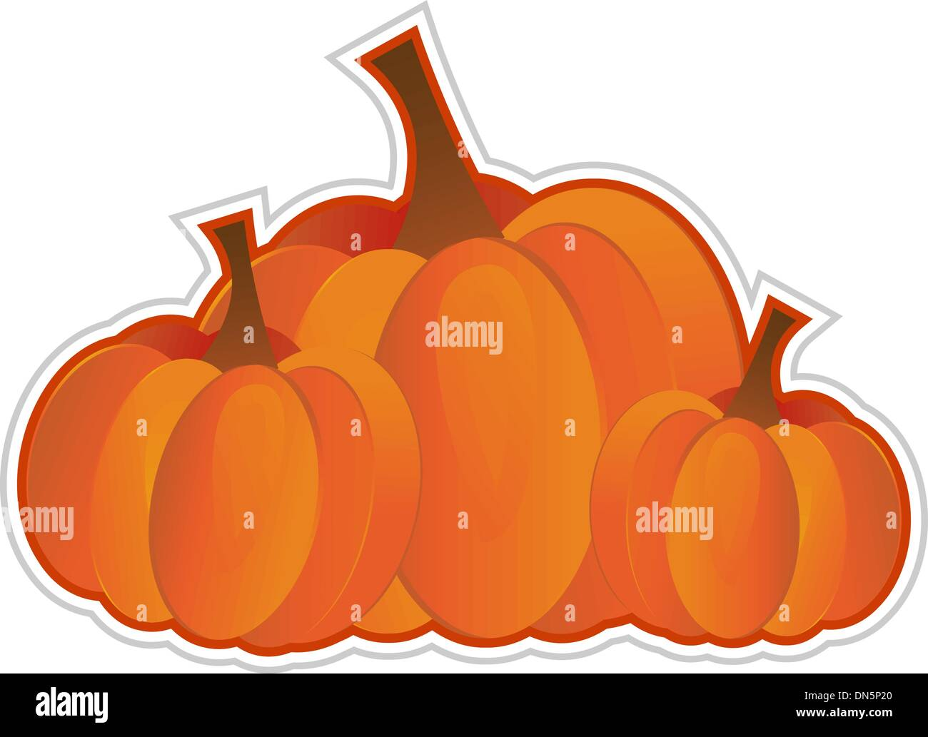 Pumpkins - Stock Vector