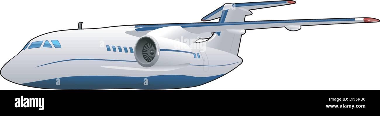 passenger aircraft - Stock Image