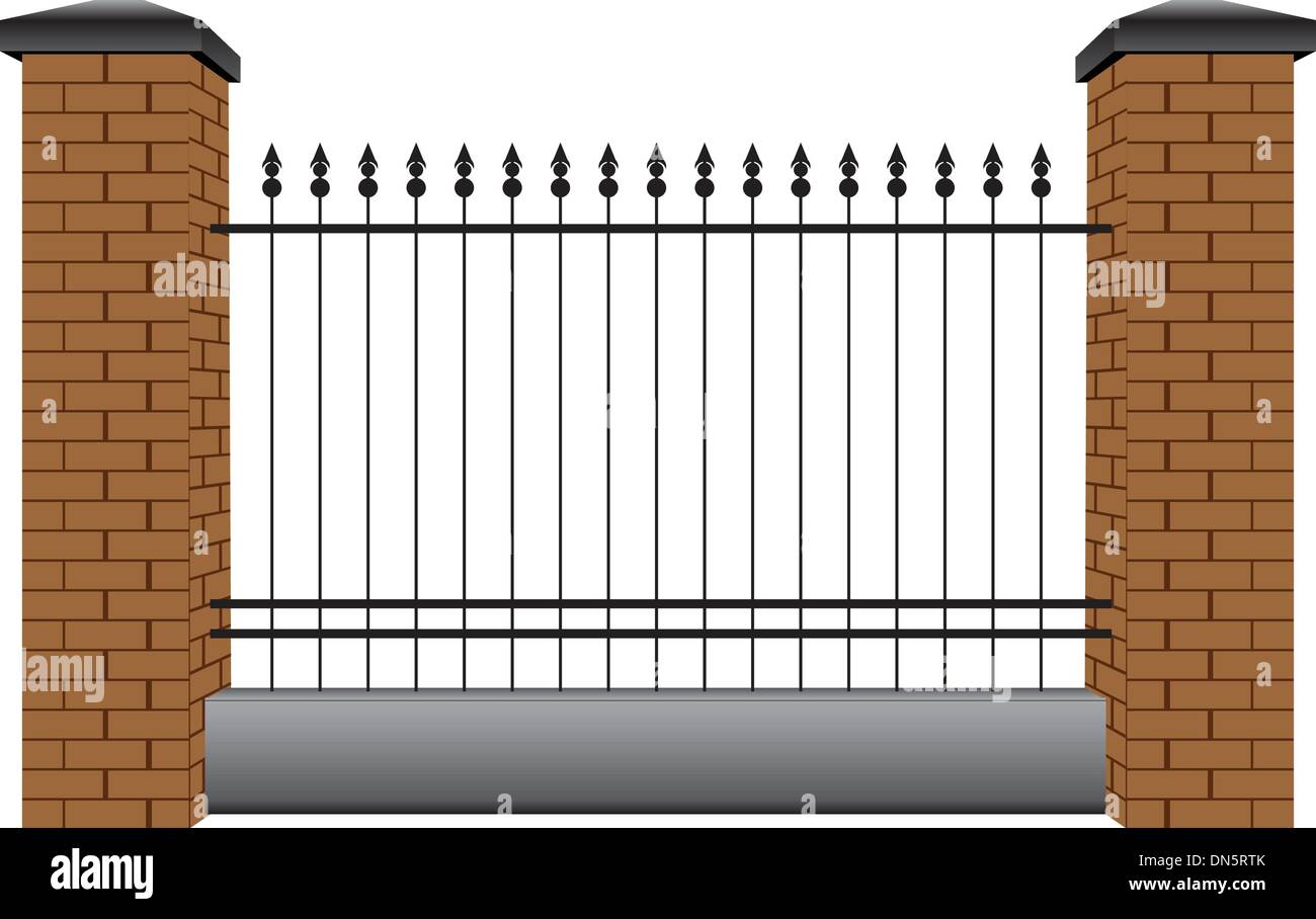 Section of the fence - Stock Vector
