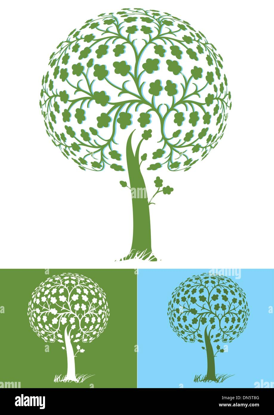 stylized tree - Stock Image