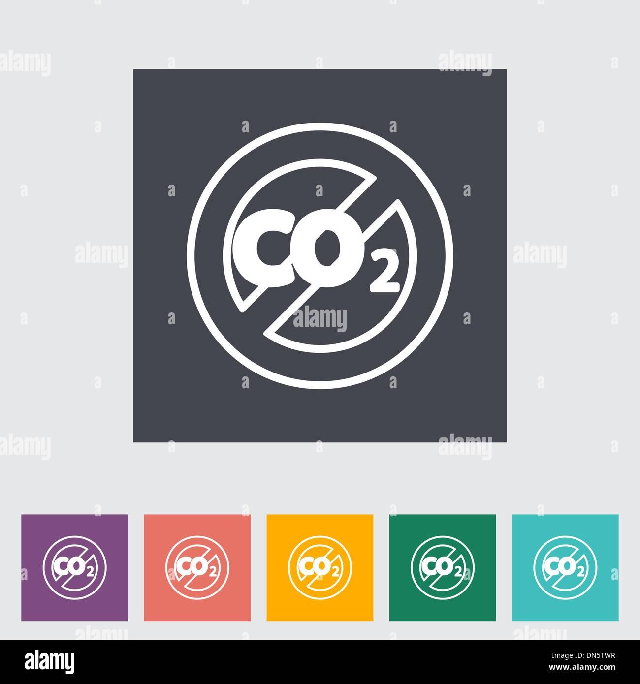 CO2 flat icon - Stock Image