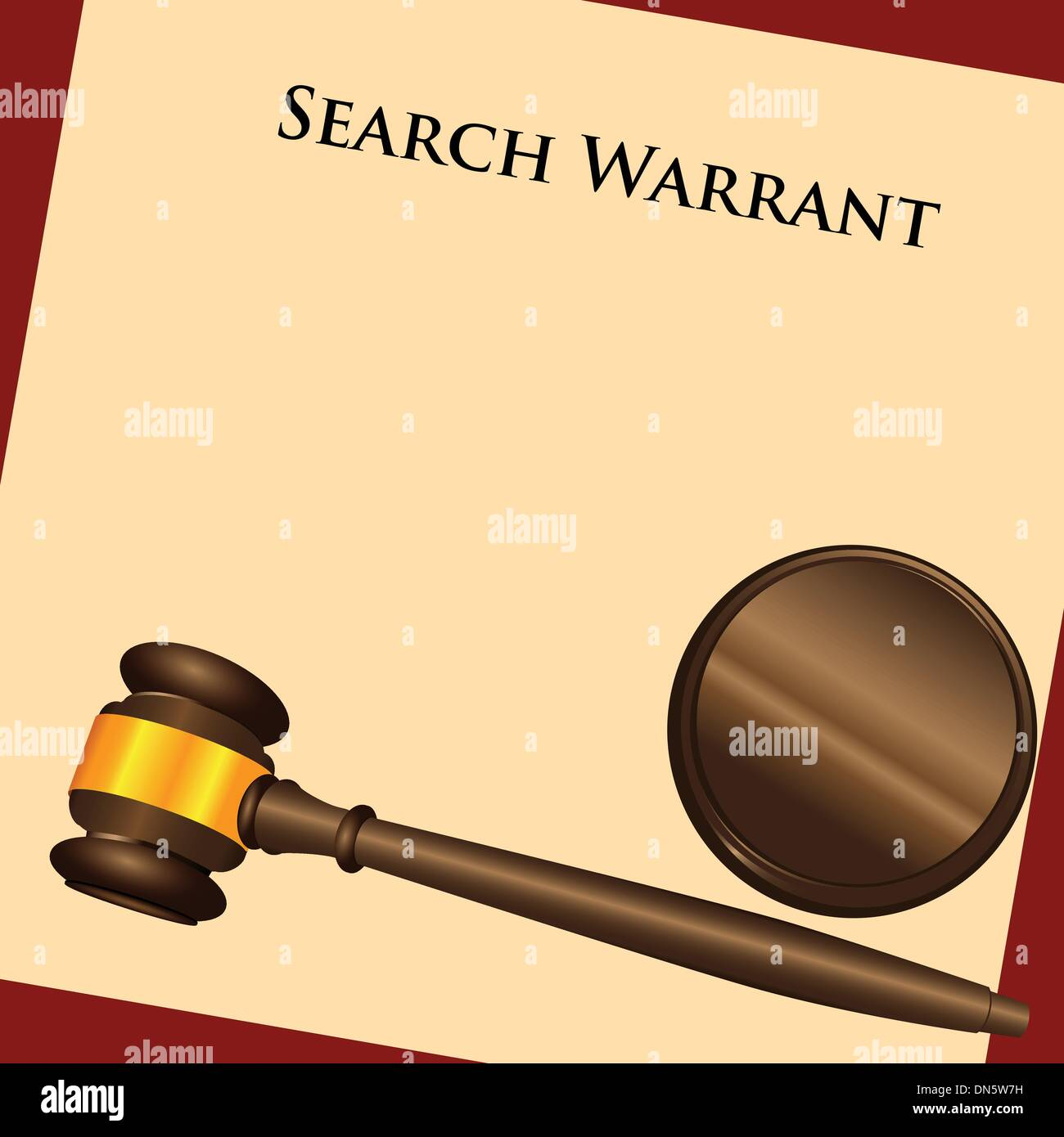 Search Warrant - Stock Image