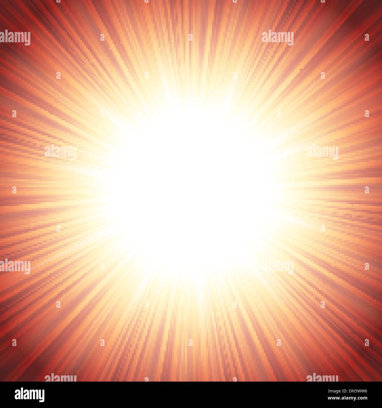 Star burst red and yellow fire. EPS 10 Stock Vector