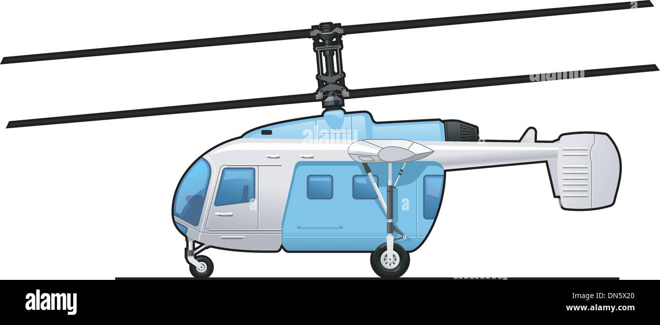 helicopter - Stock Vector