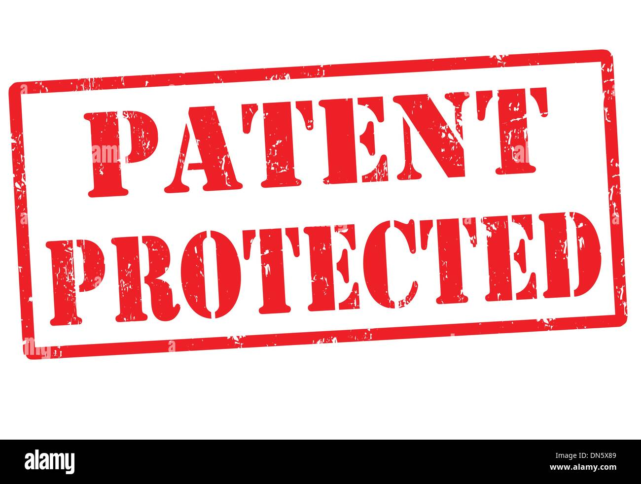 Patent protected stamp - Stock Image