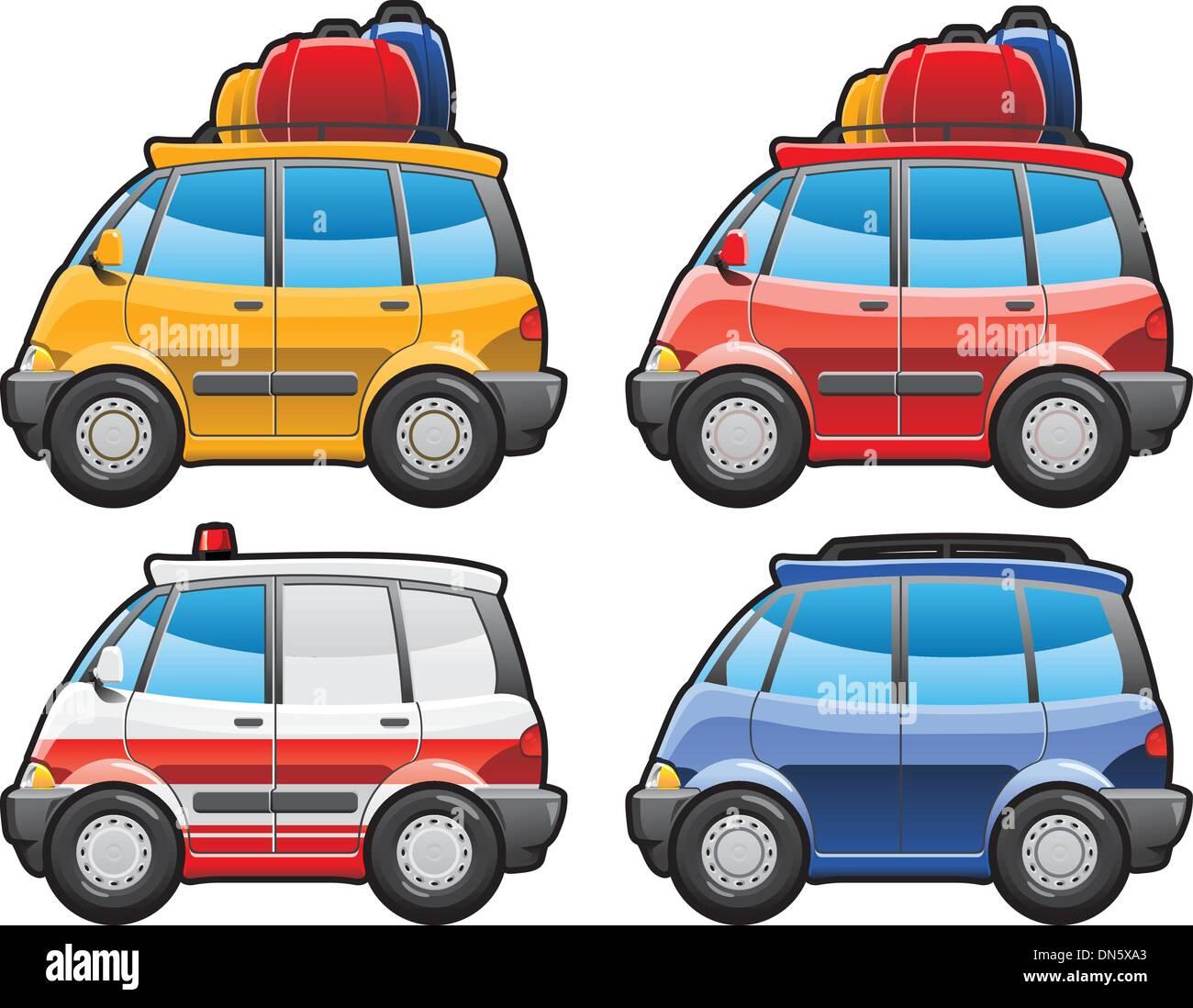 minivan, ambulance car - Stock Vector