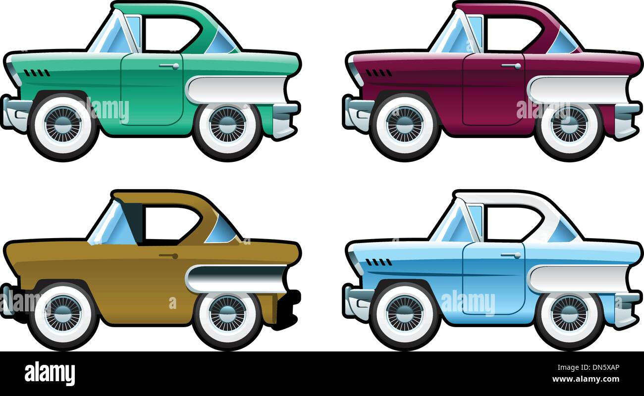 Classic Cars - 60s - Stock Image