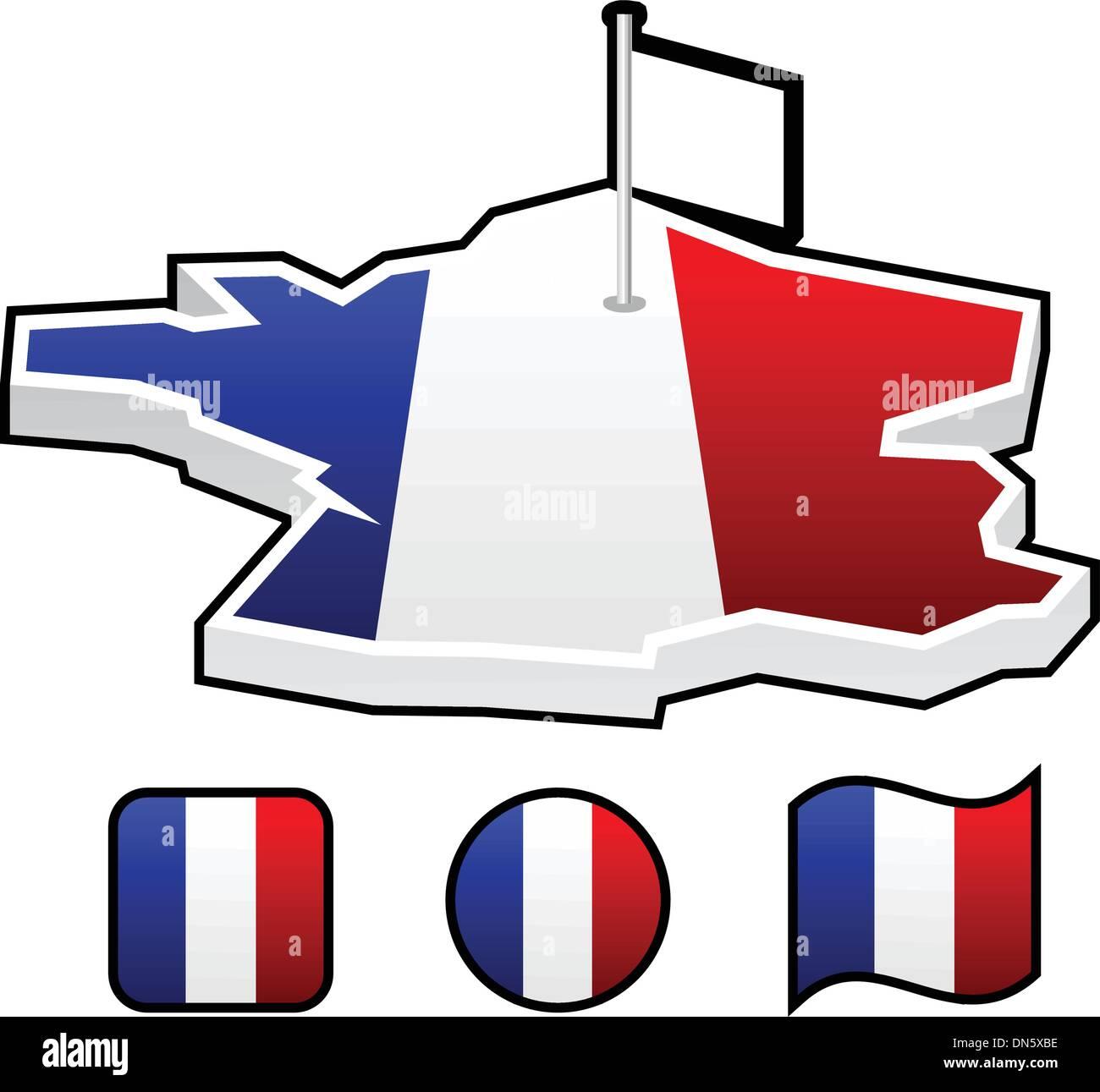 France - Stock Vector