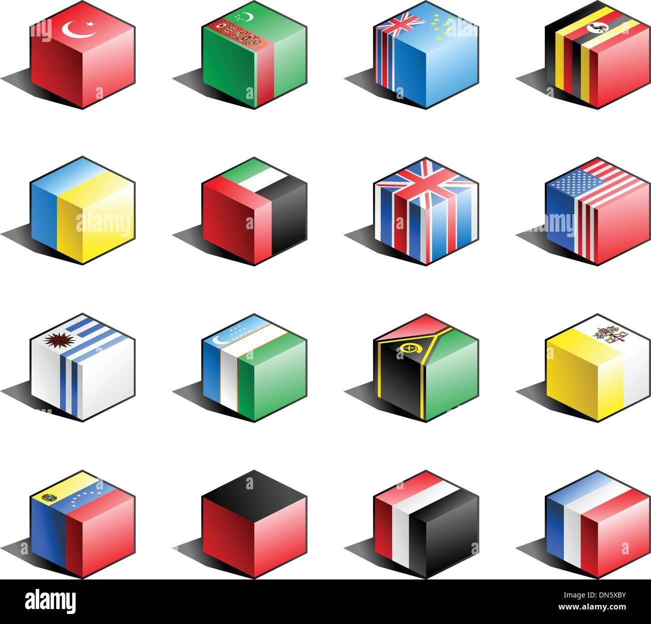 Flag icon set (part 12) - Stock Image