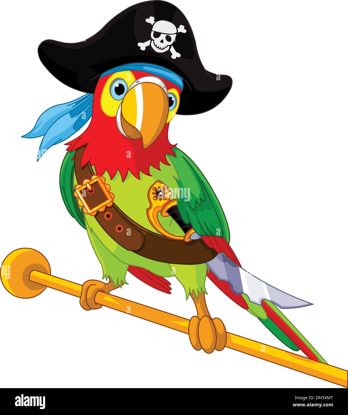 Pirate Parrot Stock Vector Art Illustration Vector Image