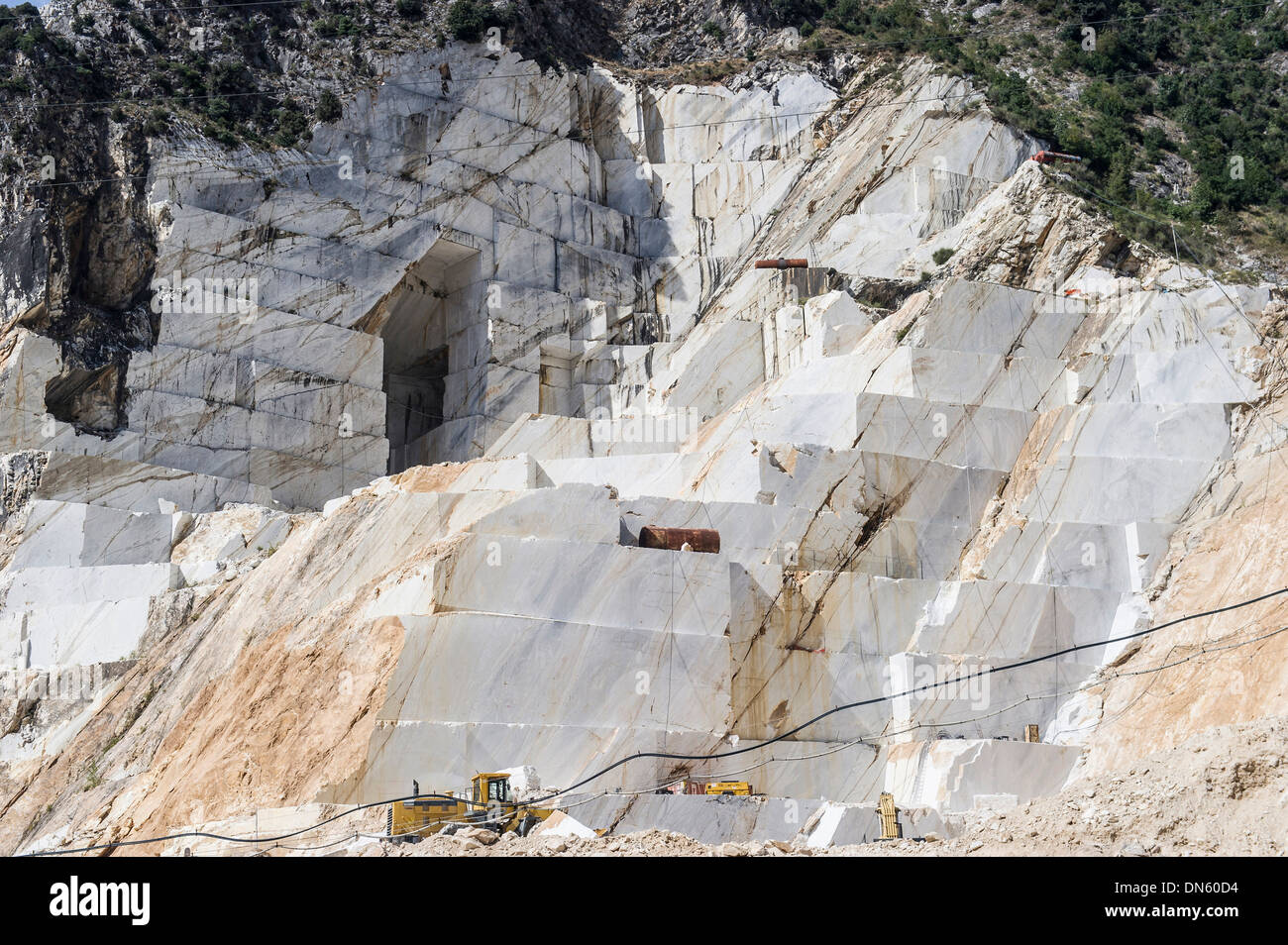Marble quarries at Carrara, Province of Massa-Carrara, Tuscany, Italy - Stock Image
