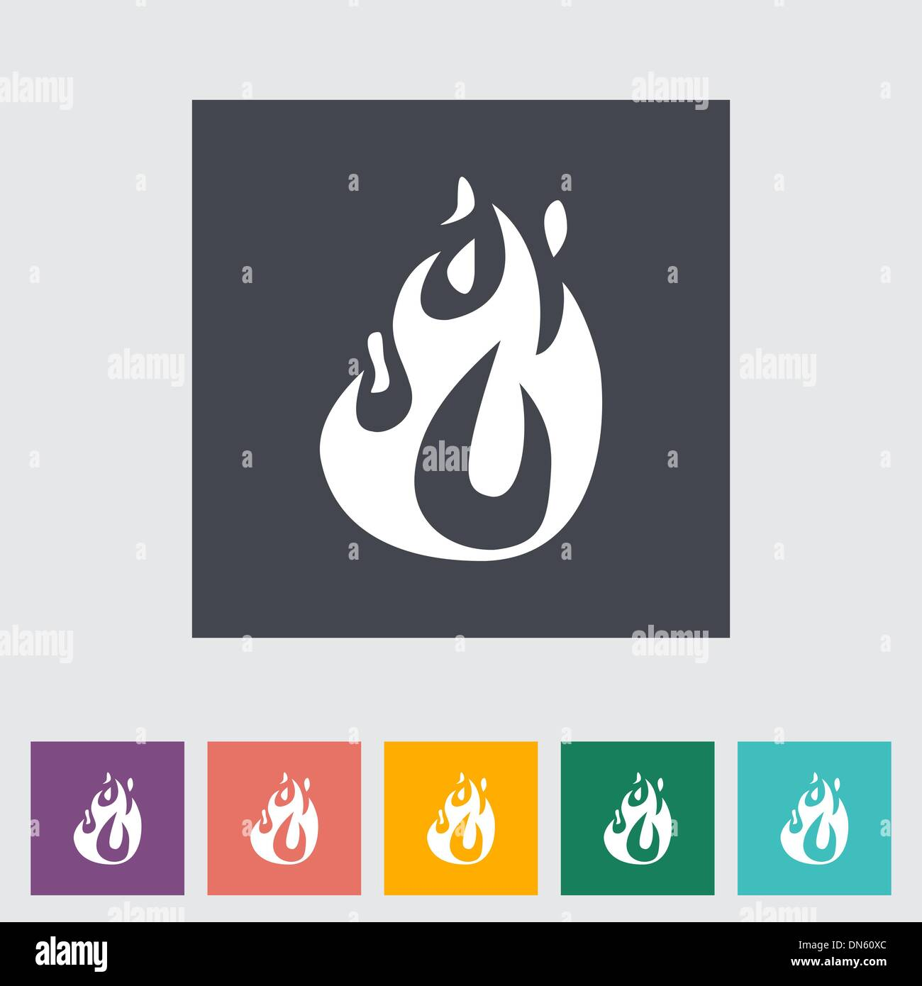 Fire flat icon - Stock Image