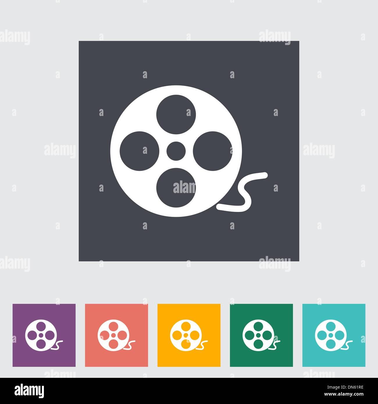 Icon reel of film - Stock Image