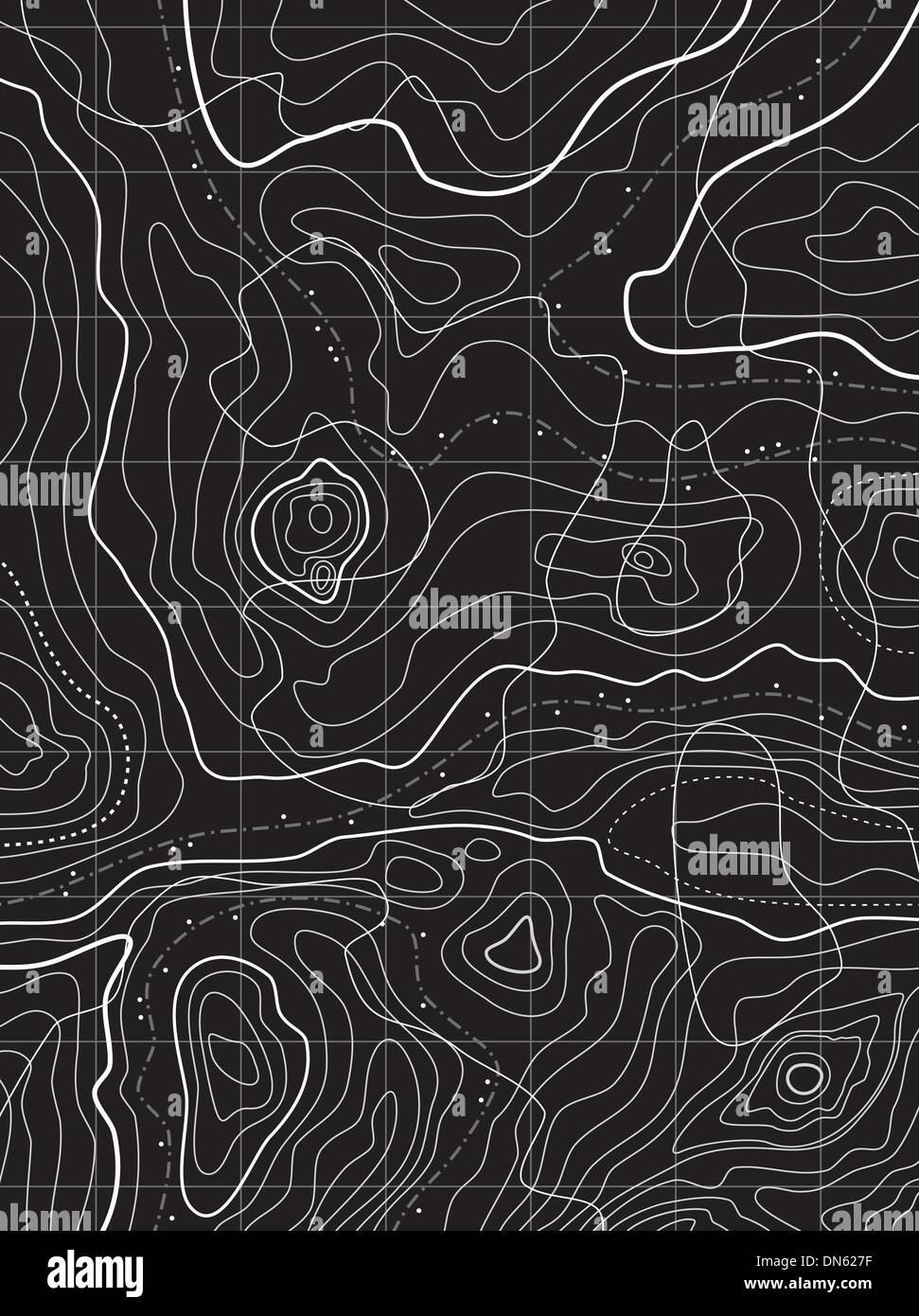 vector abstract topographical map - Stock Image