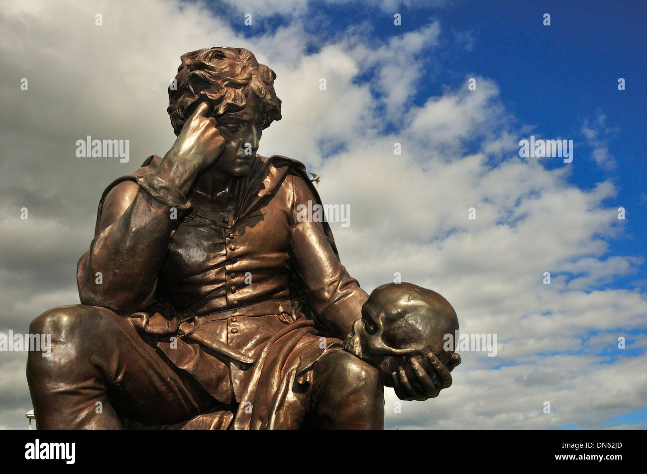 Statue of Hamlet, Stratford-upon-Avon, Warwickshire, England, United Kingdom - Stock Image
