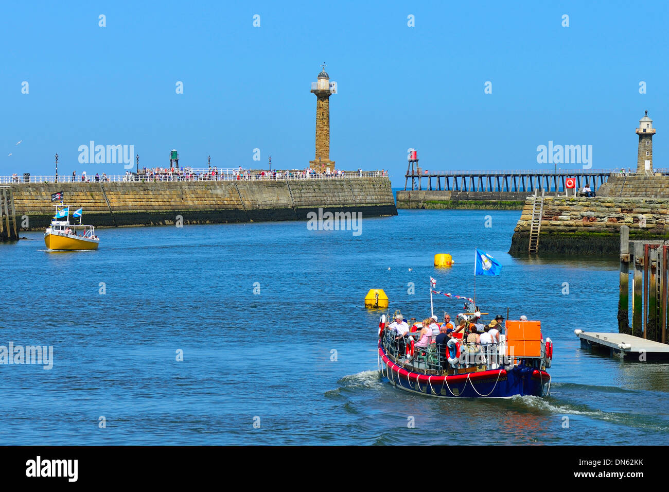 Excursion boat on the River Esk, Whitby, North Yorkshire, England, United Kingdom - Stock Image