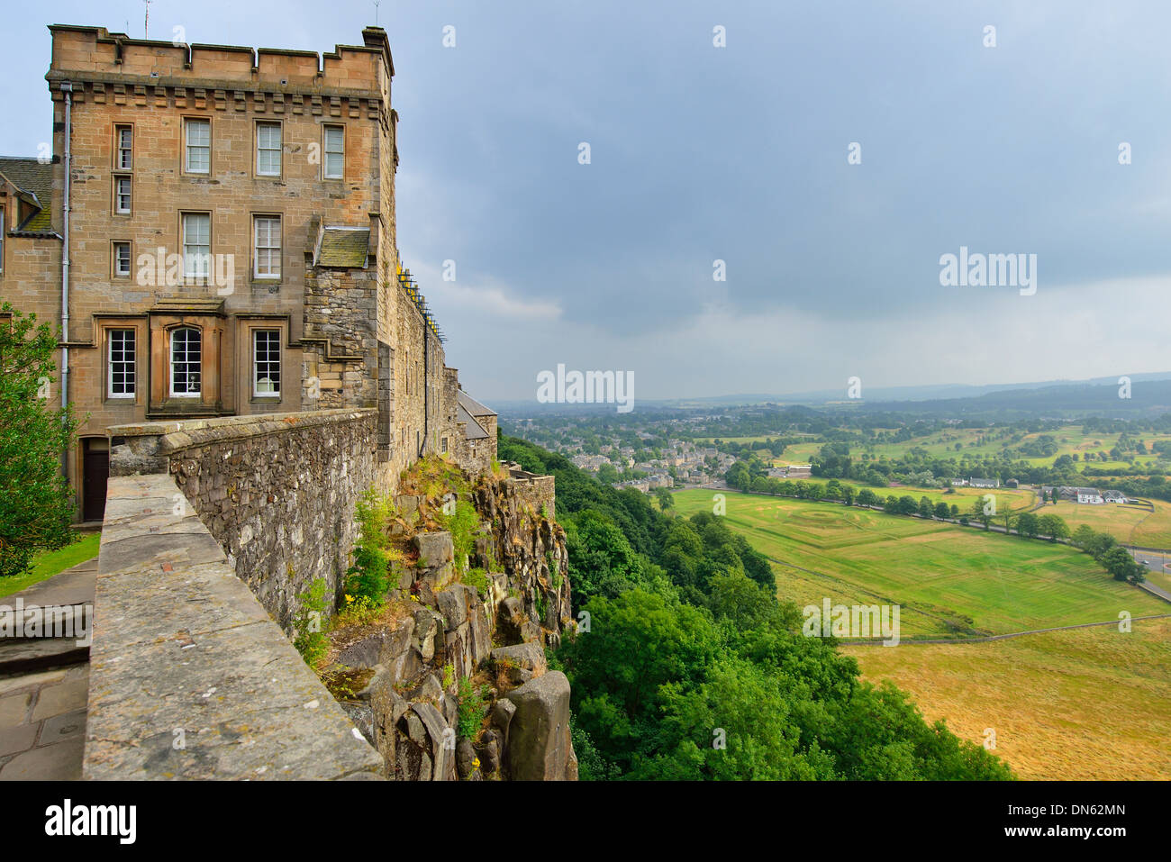 View from the castle wall, Stirling Castle, Stirling, Central, Scotland, United Kingdom Stock Photo