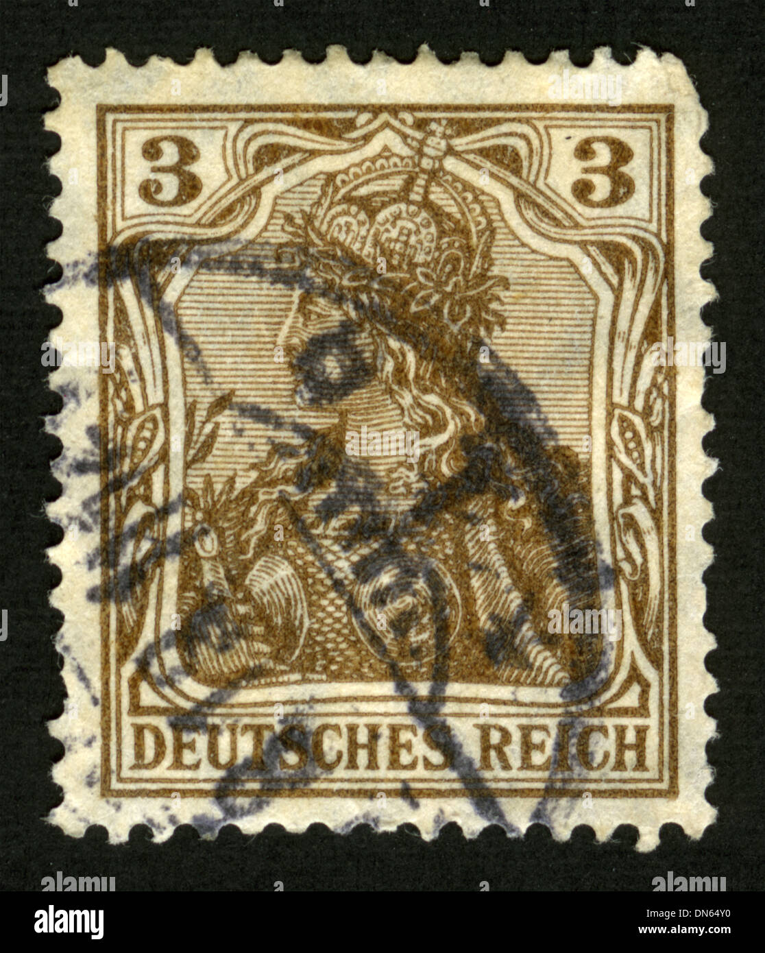 Postage stamp: Germany, AM Post, post mark, stamp, post stamp, 1902 Stock Photo