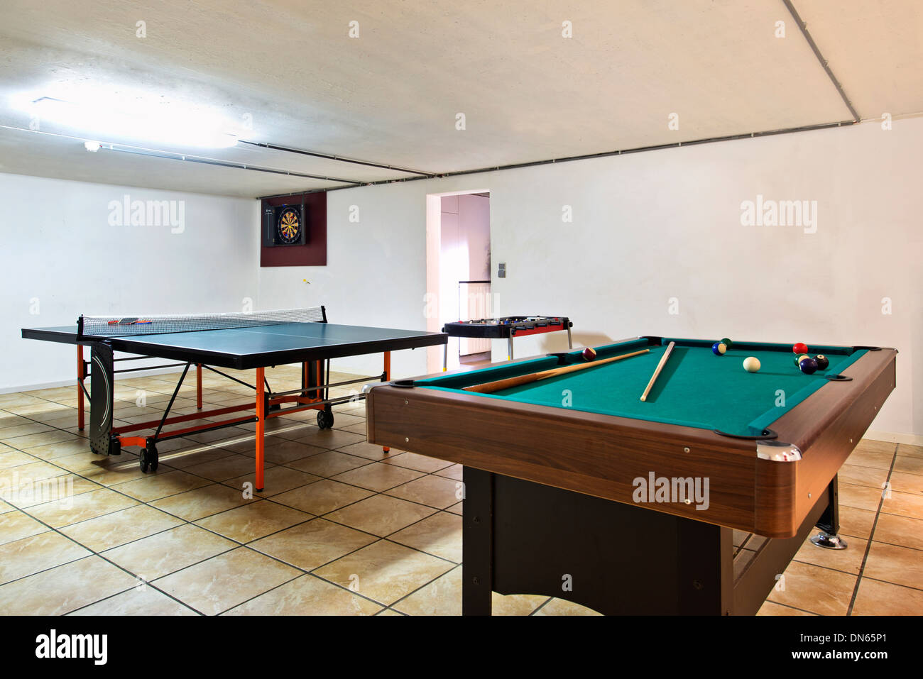 Bon Pool Table And Ping Pong Table In Basement