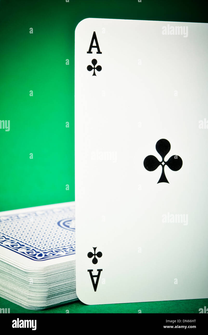 ace of Clubs playing card - Stock Image