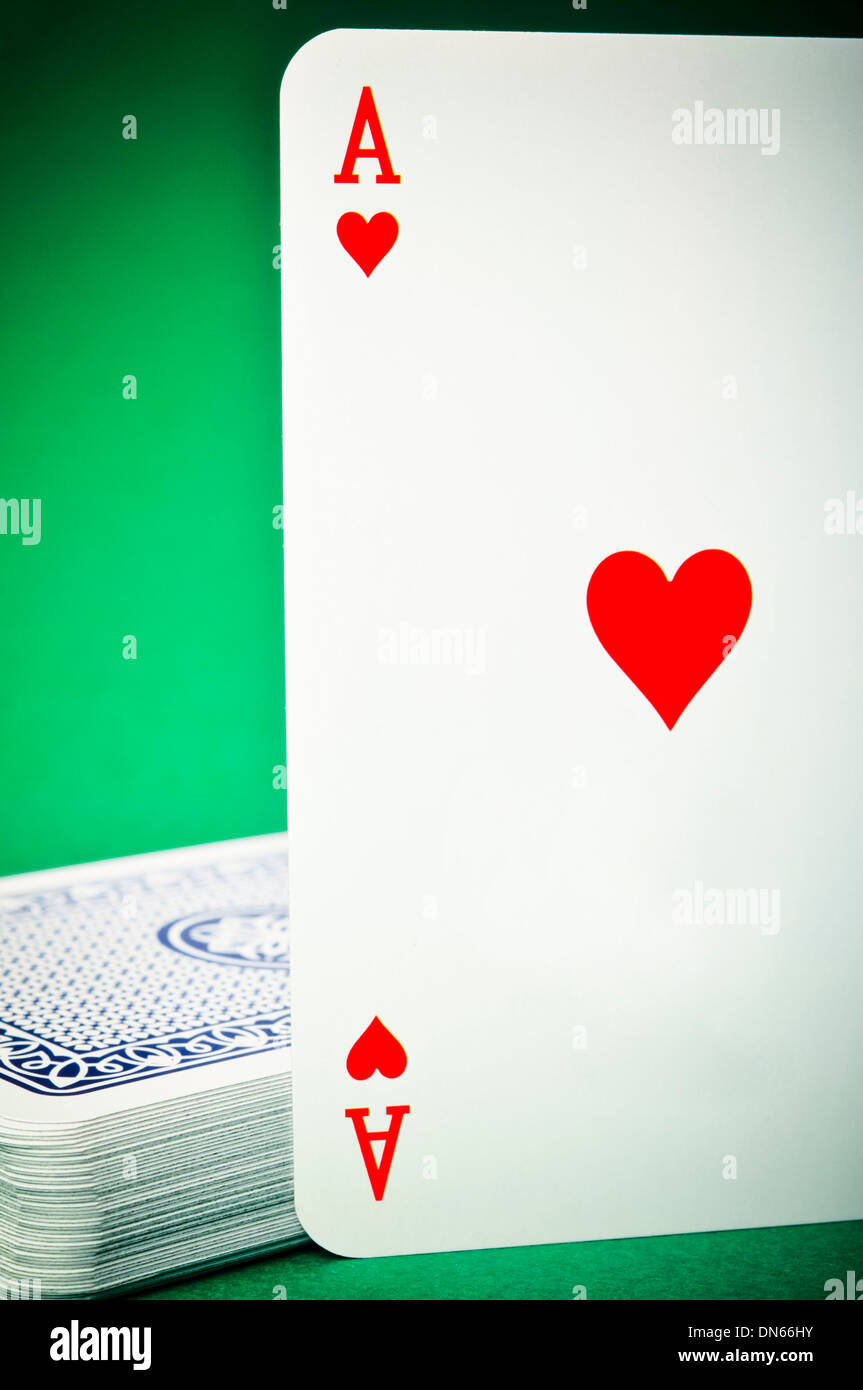 ace of Hearts playing card - Stock Image