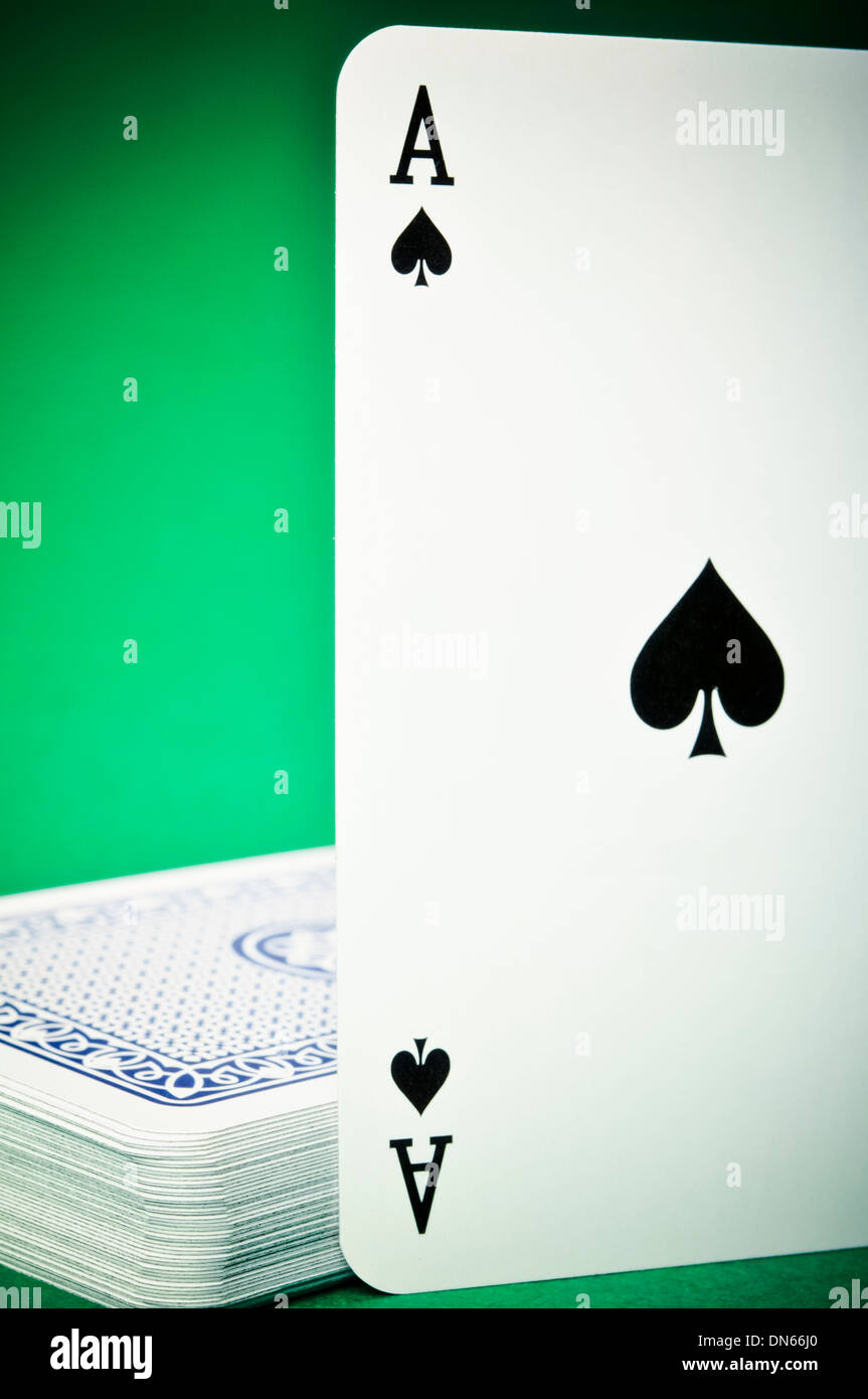 ace of Spades playing card - Stock Image