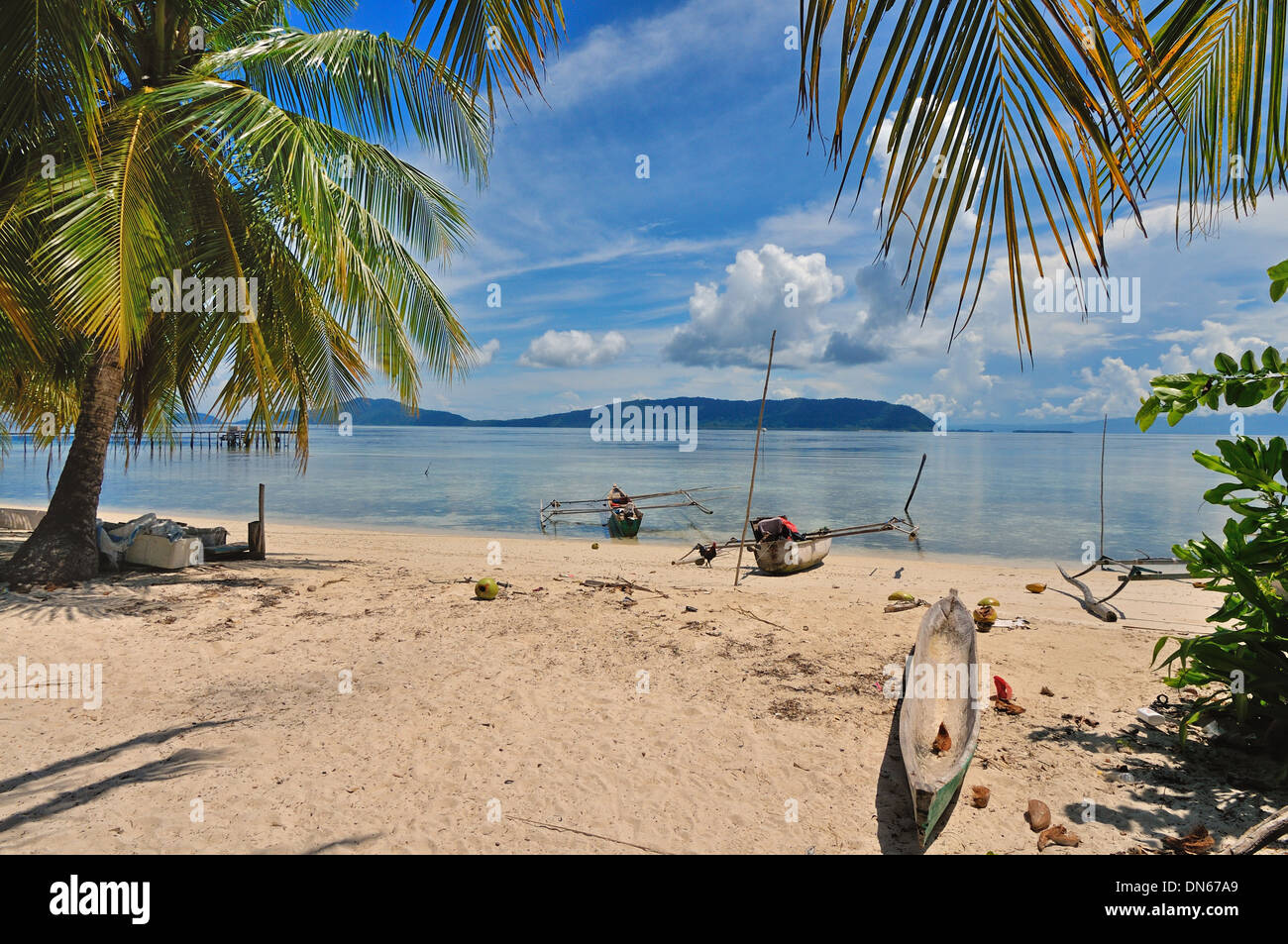 Arborek village, North Raja Ampat, West Papua, Indonesia - Stock Image